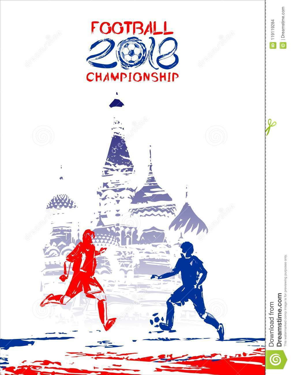 football 2018 vector illustration sports background in