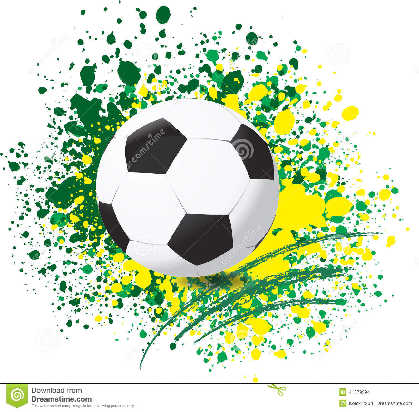 Football World Cup On Paint Splash Color Background Illustration ...