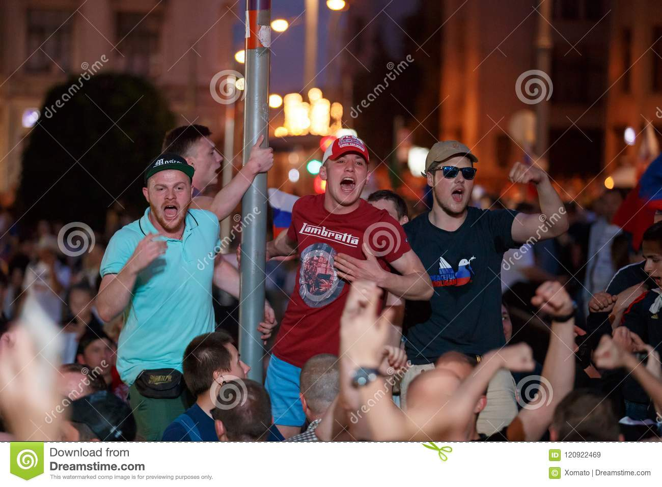 MOSCOW, RUSSIA - JULY 01, 2018: Football World Cup 2018, Russian