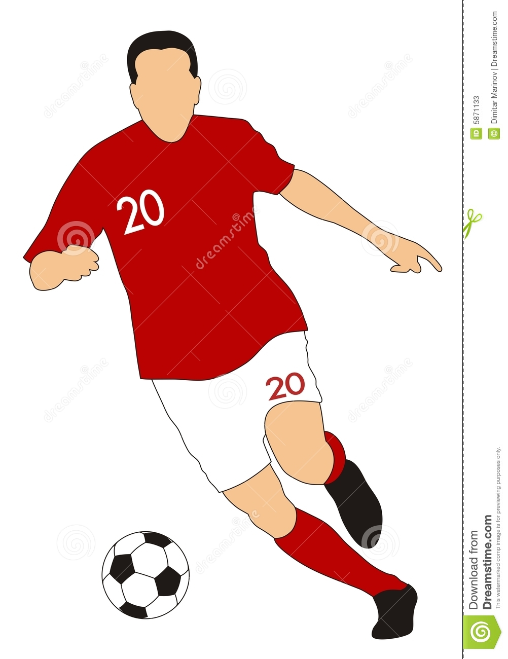 Abstract vector illustration of an footballer.
