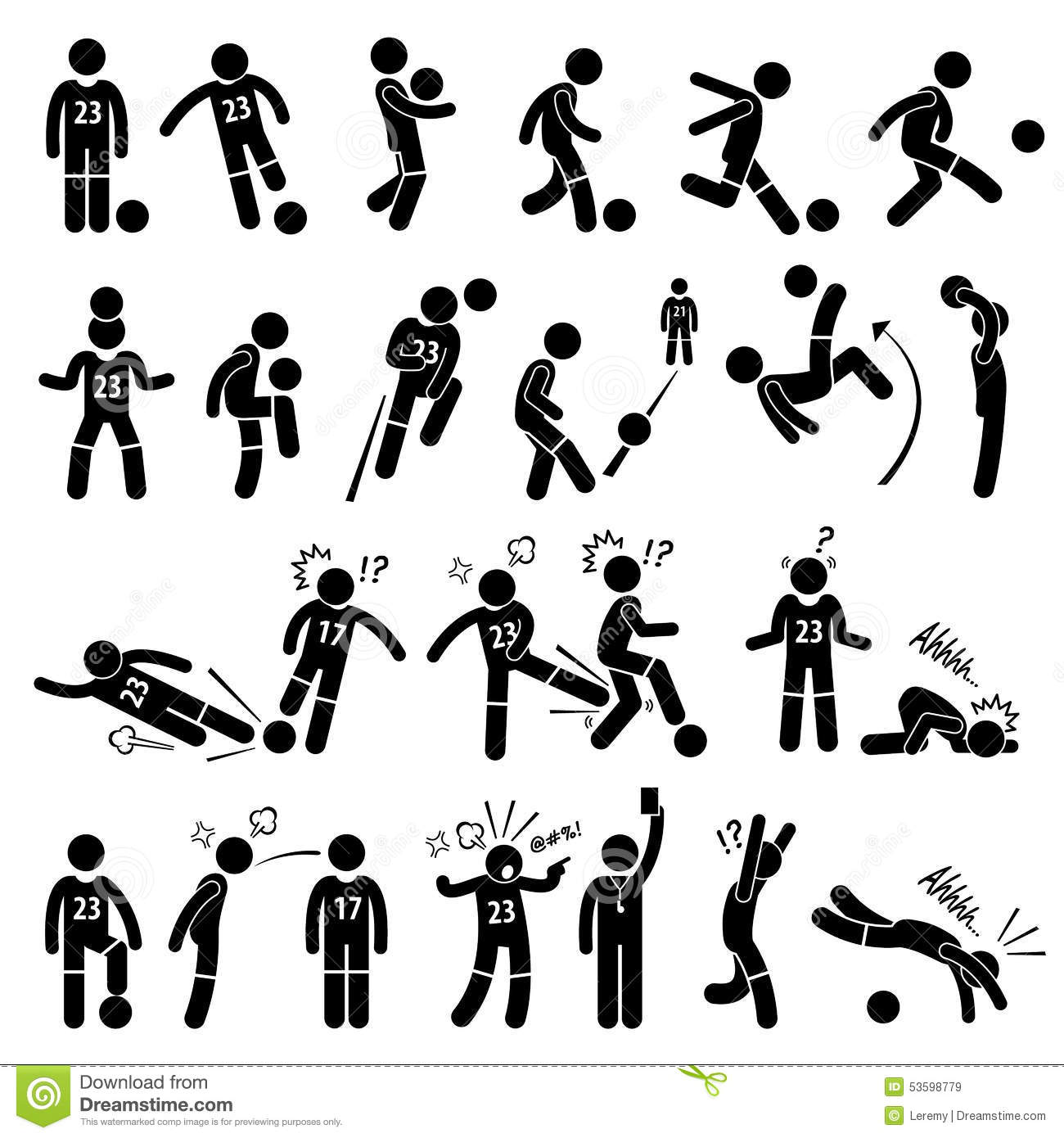 Illustration Stock Footballer Actions Poses Cliparts De Footballeur Du Football Image53598779 moreover Tupian additionally 01 as well 990 as well Tired Clipart. on stick figure