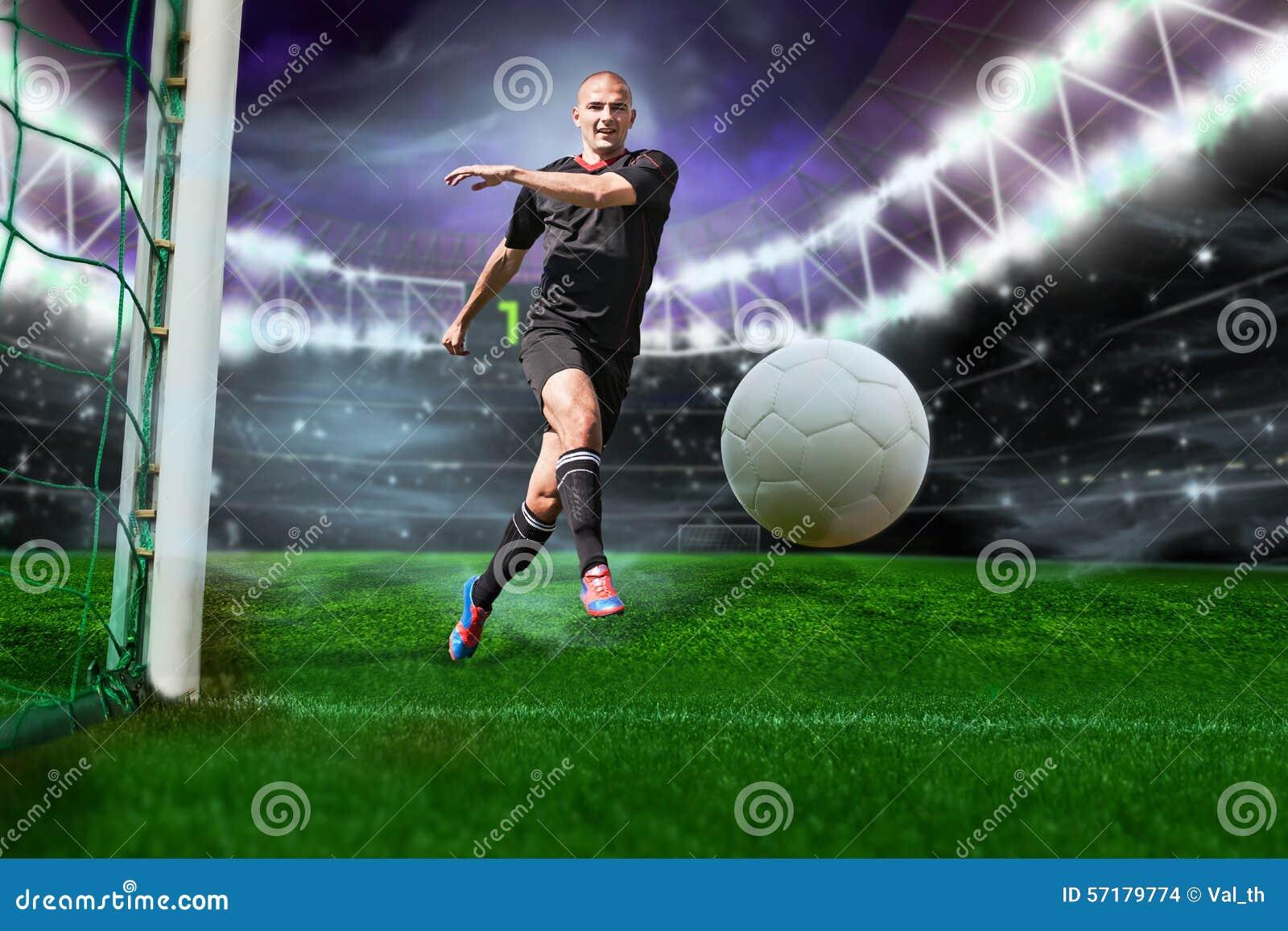 Footballeur avec la bille