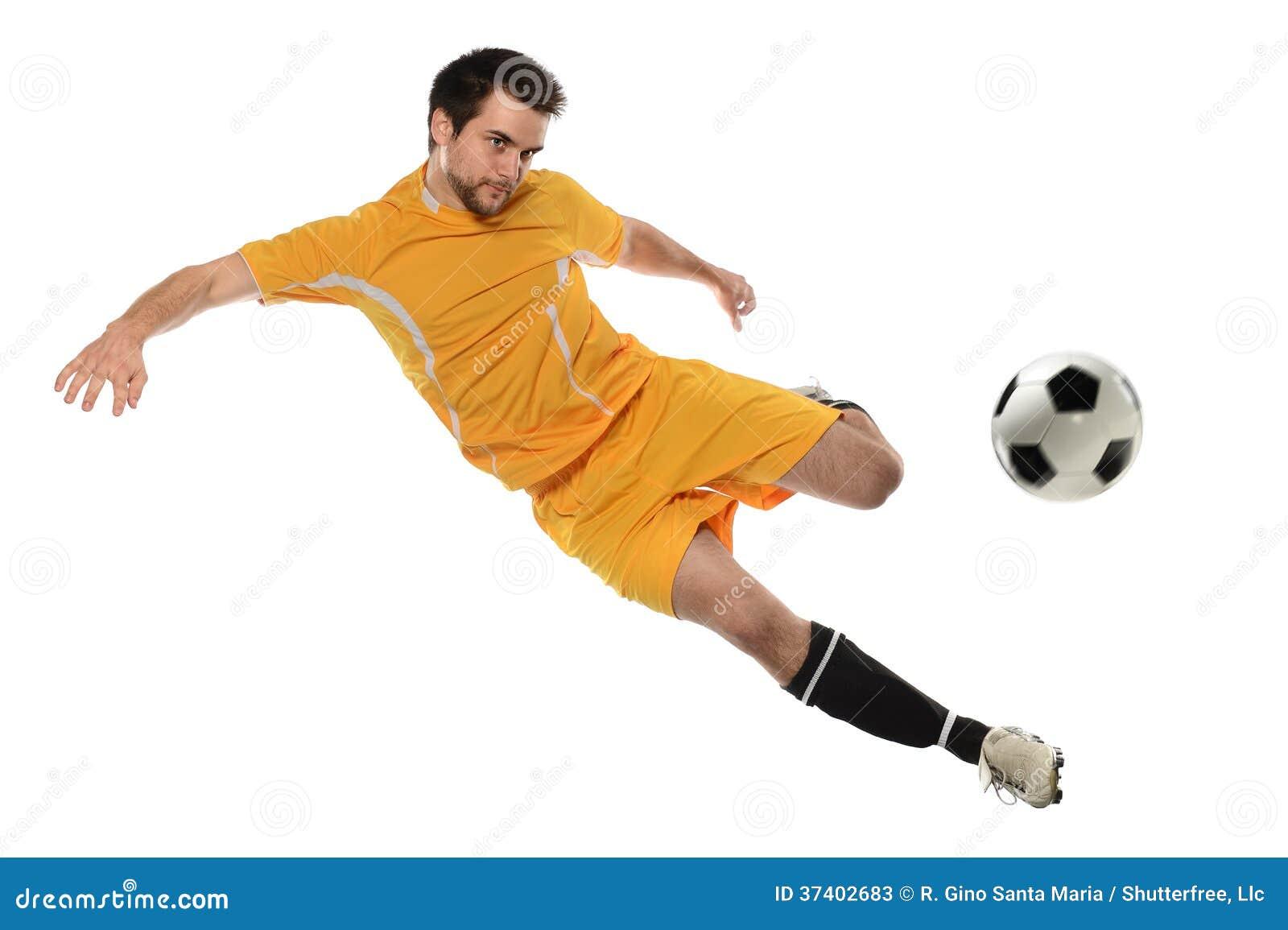Footballeur dans l action