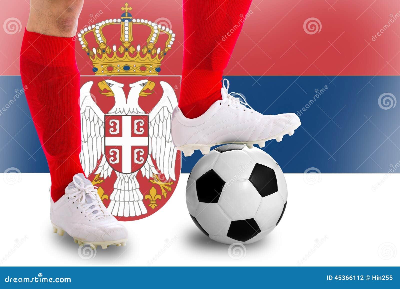 Footballeur de la Serbie