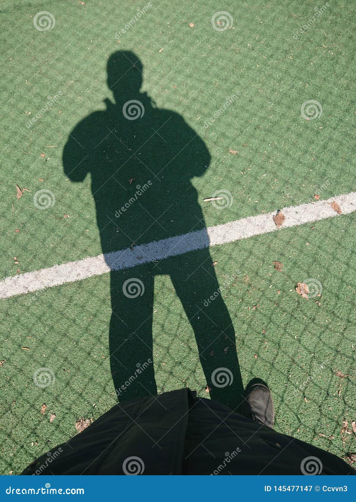 Footballeur sur le terrain de football