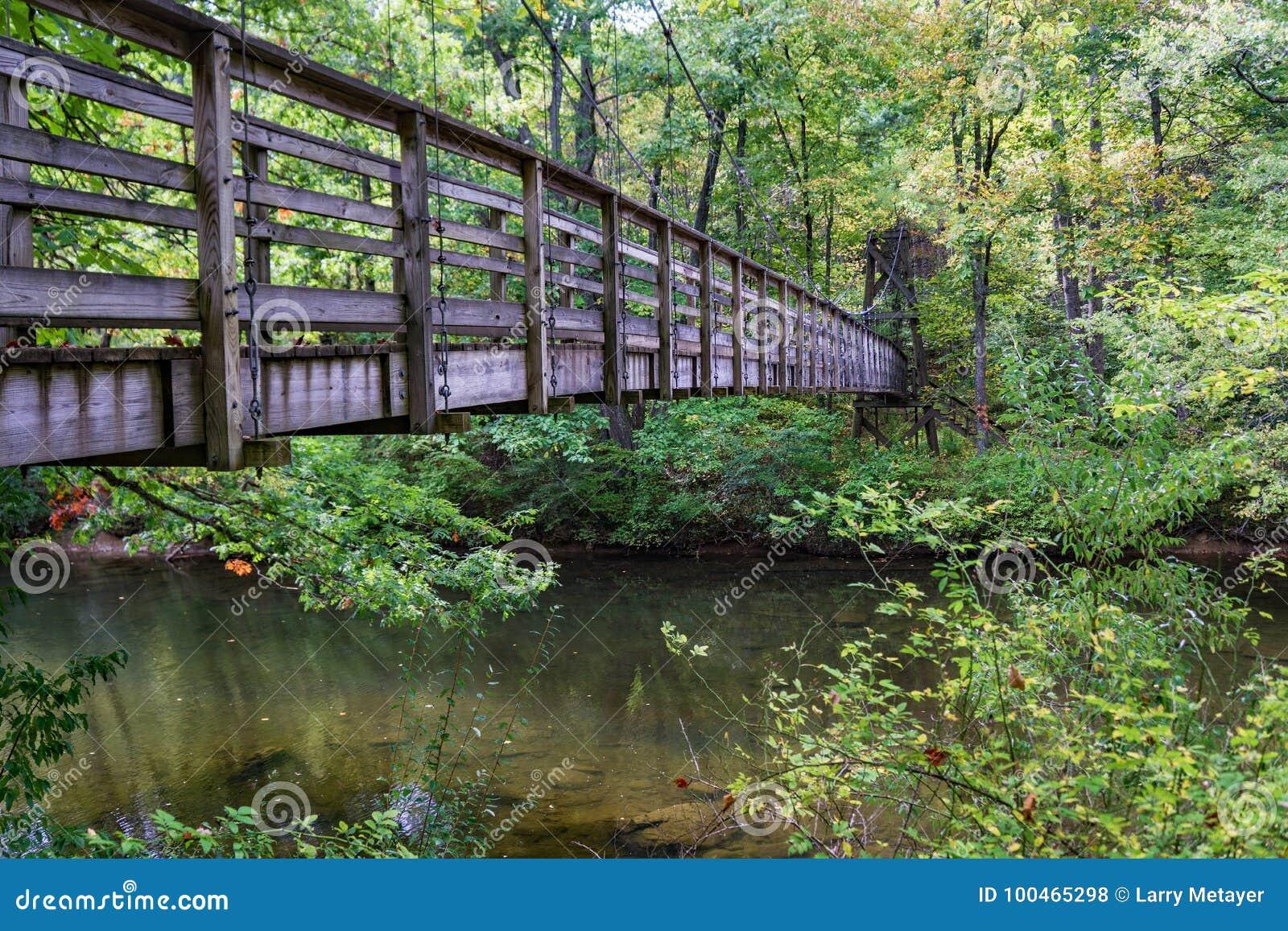 Footbridge на аппалачском следе