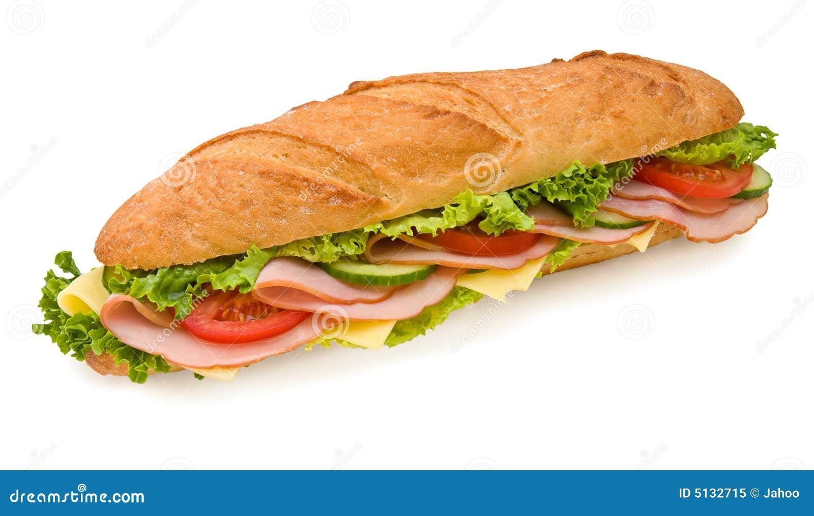 Footlong Ham & Cheese submarine sandwich