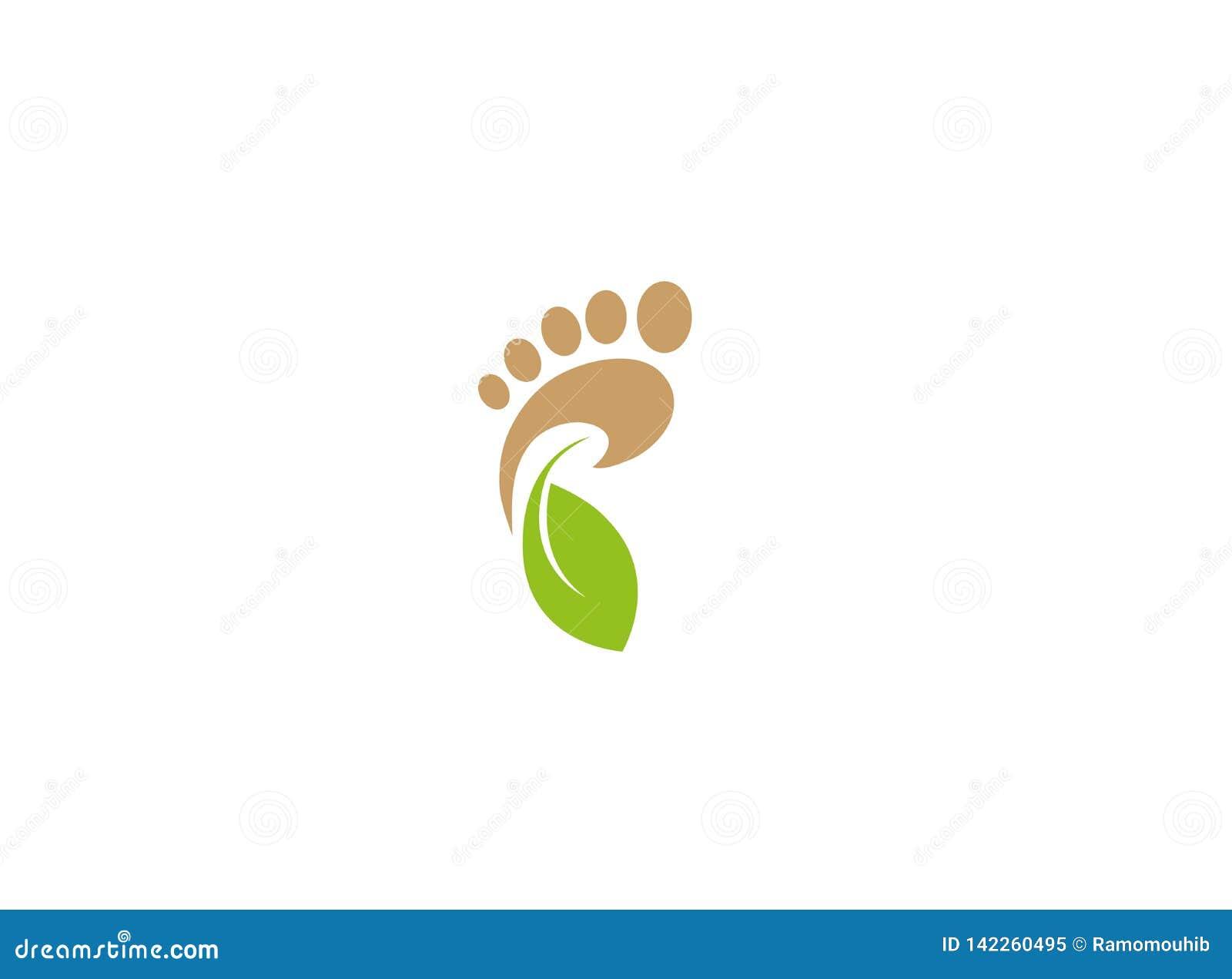 Footprint and health nature, bio care Logo design