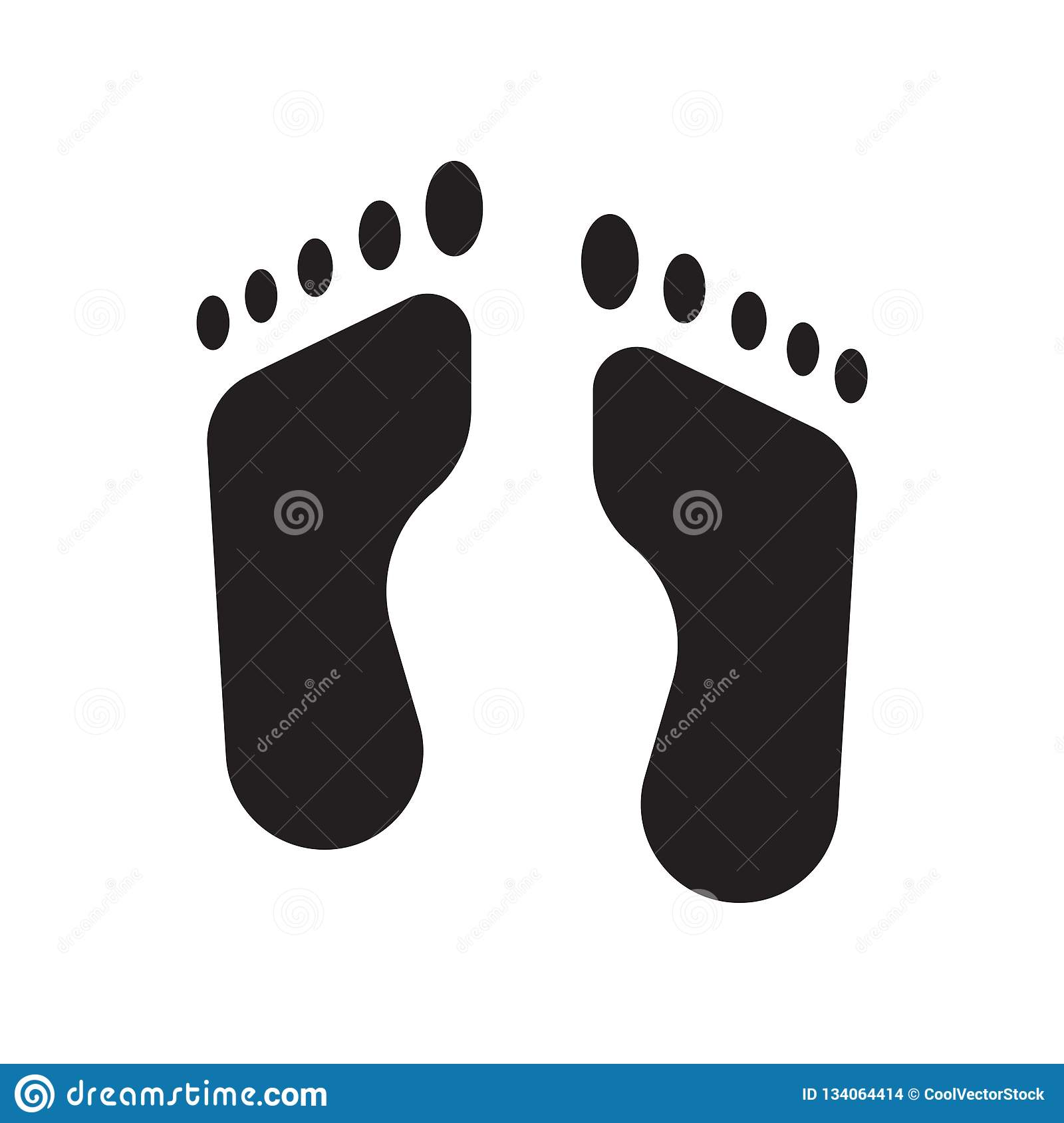 Footprint icon vector isolated on white background, Footprint sign , medical health symbols