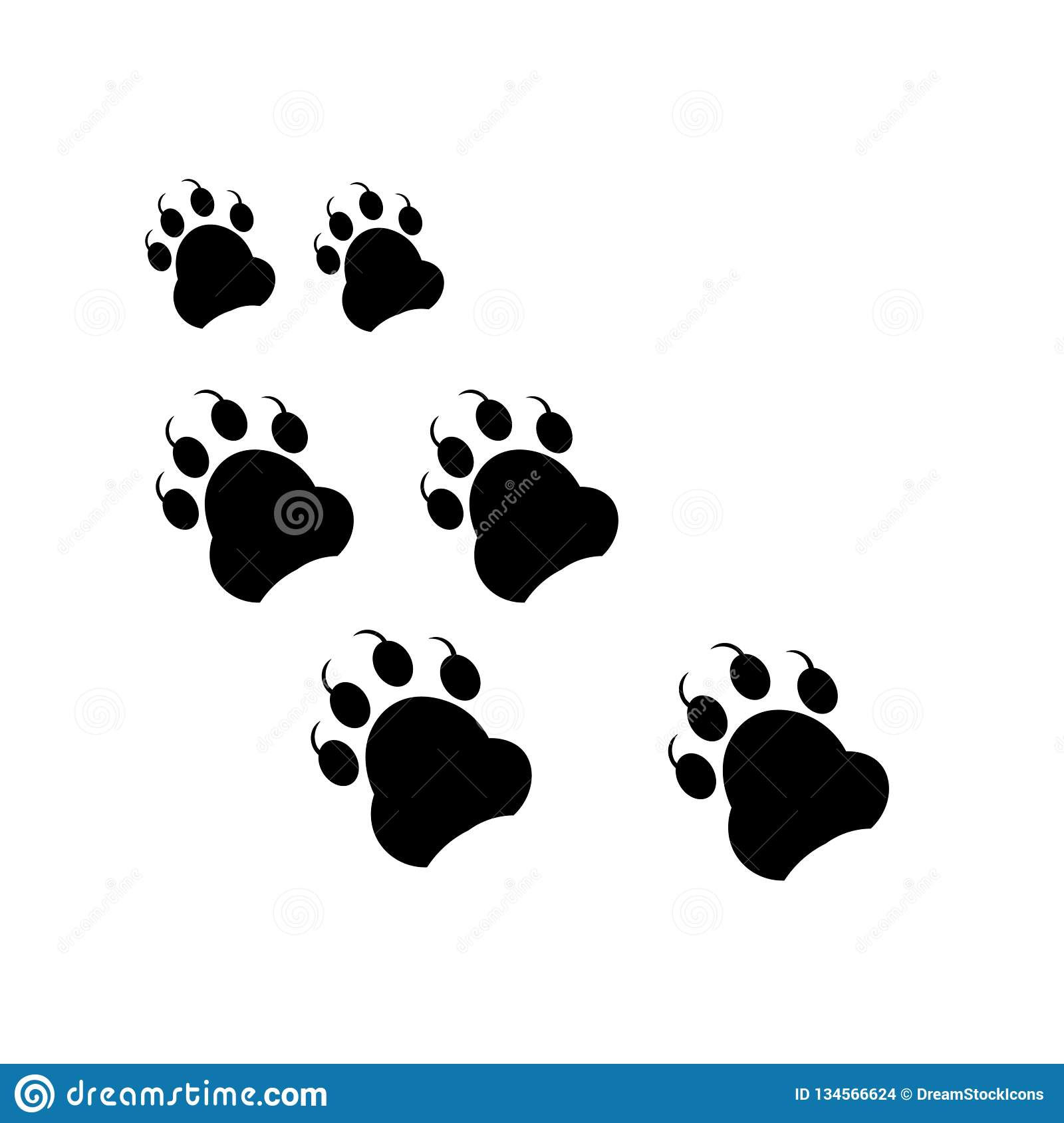 Footprint icon vector sign and symbol isolated on white background, Footprint logo concept