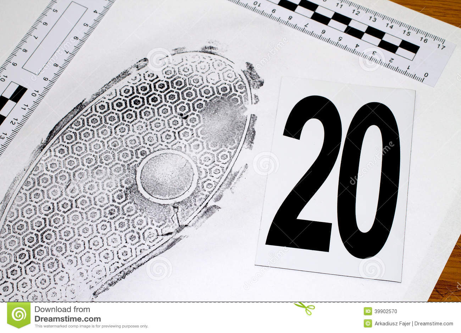 Footprint Stock Photo Image Of Hint Heist Investigator 39902570
