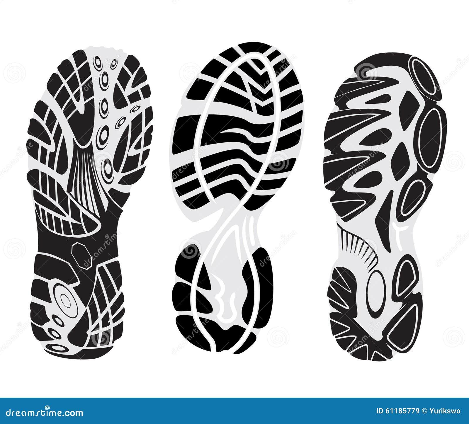 Footprint Vector Stock Vector Image 61185779