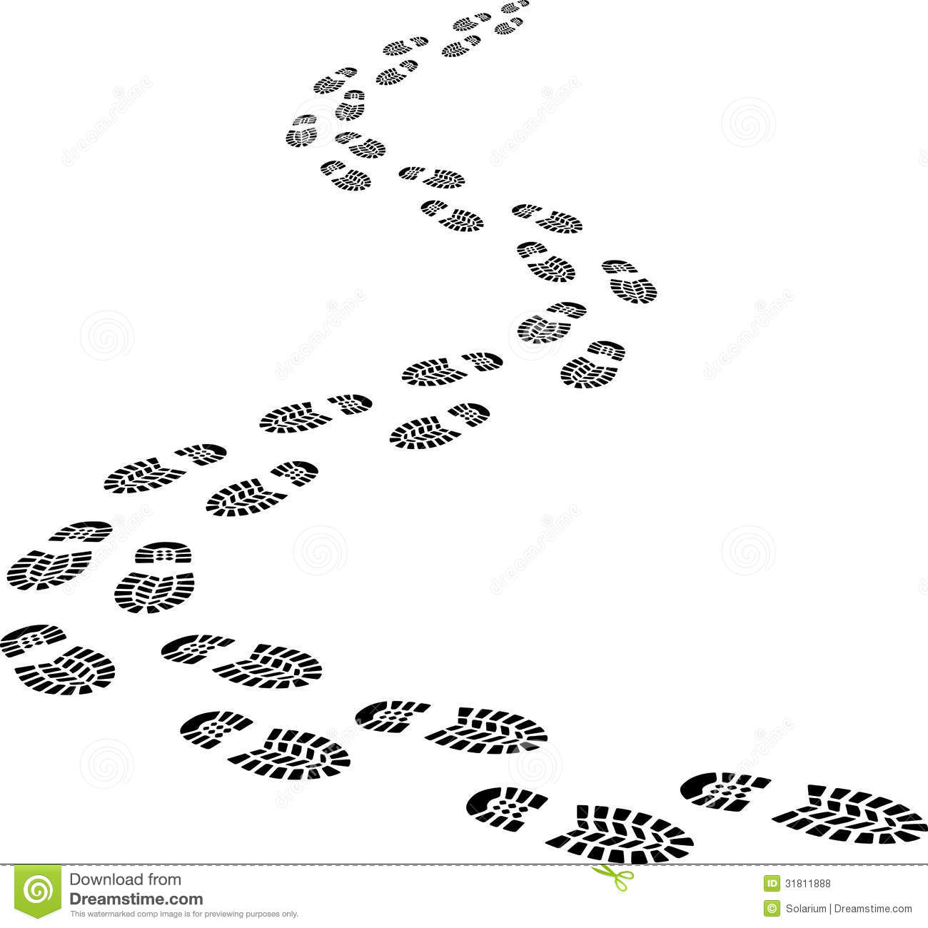 Footprints Royalty Free Stock Photos - Image: 31811888