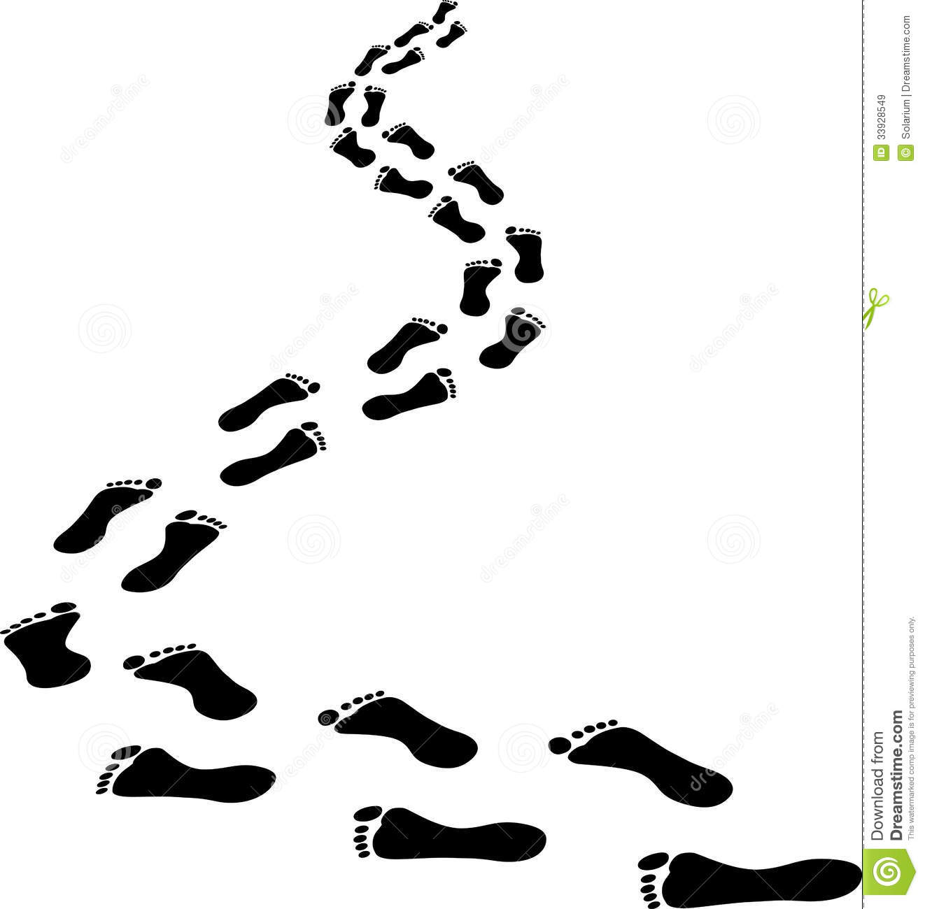 Footprints Royalty Free Stock Images - Image: 33928549