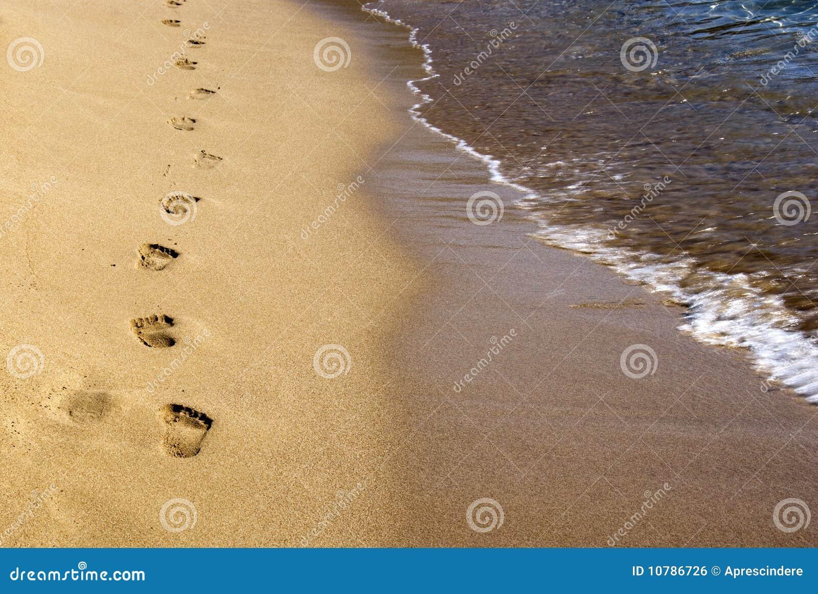 Footprints on the sand