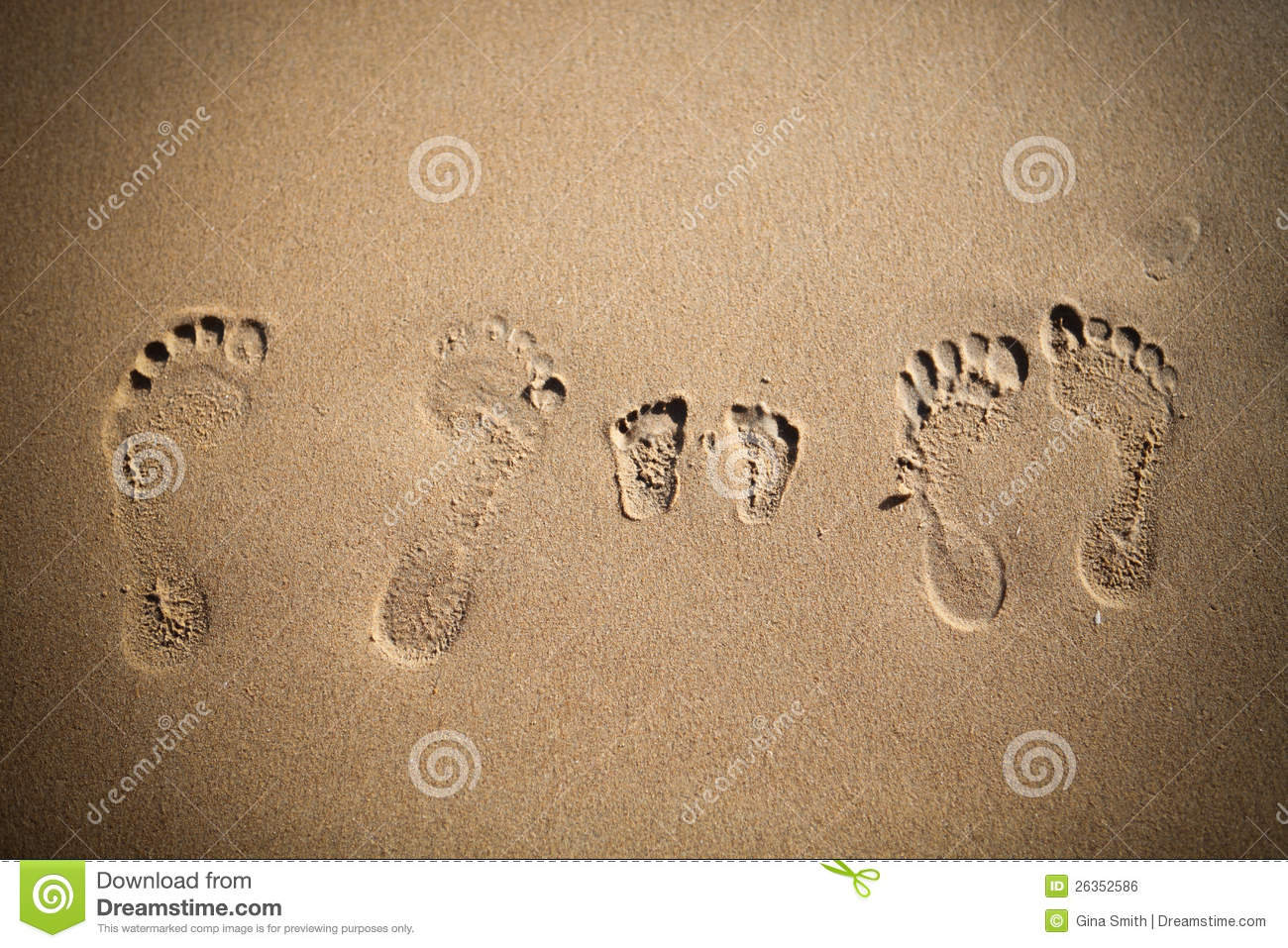 Footprints In The Sand Stock Photo Image Of Mother 26352586