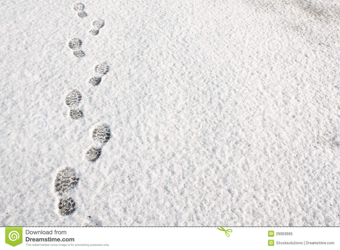 Footprints In The Snow Background Royalty Free Stock Photo - Image ...