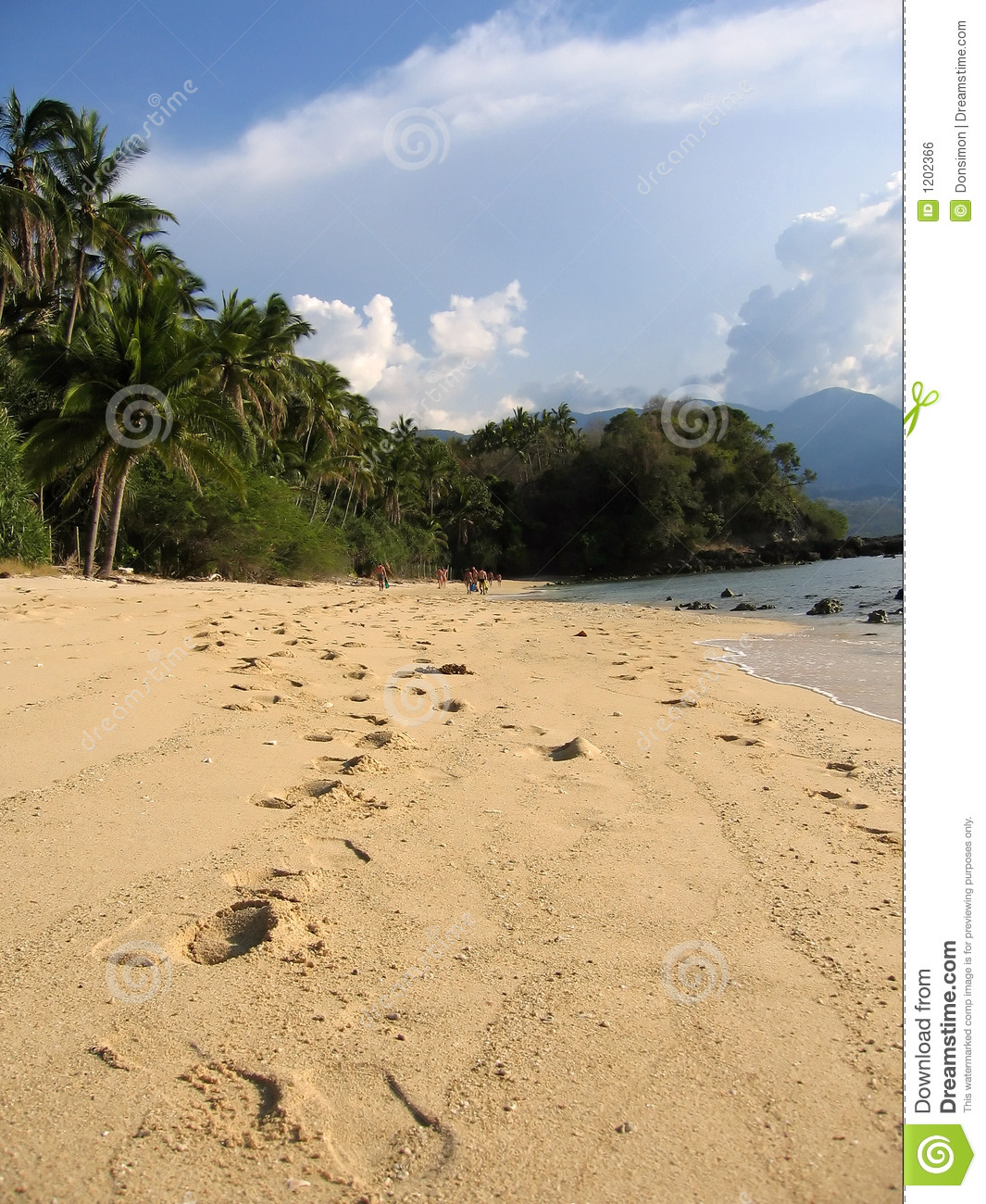 Footsteps in the sand philippines beach