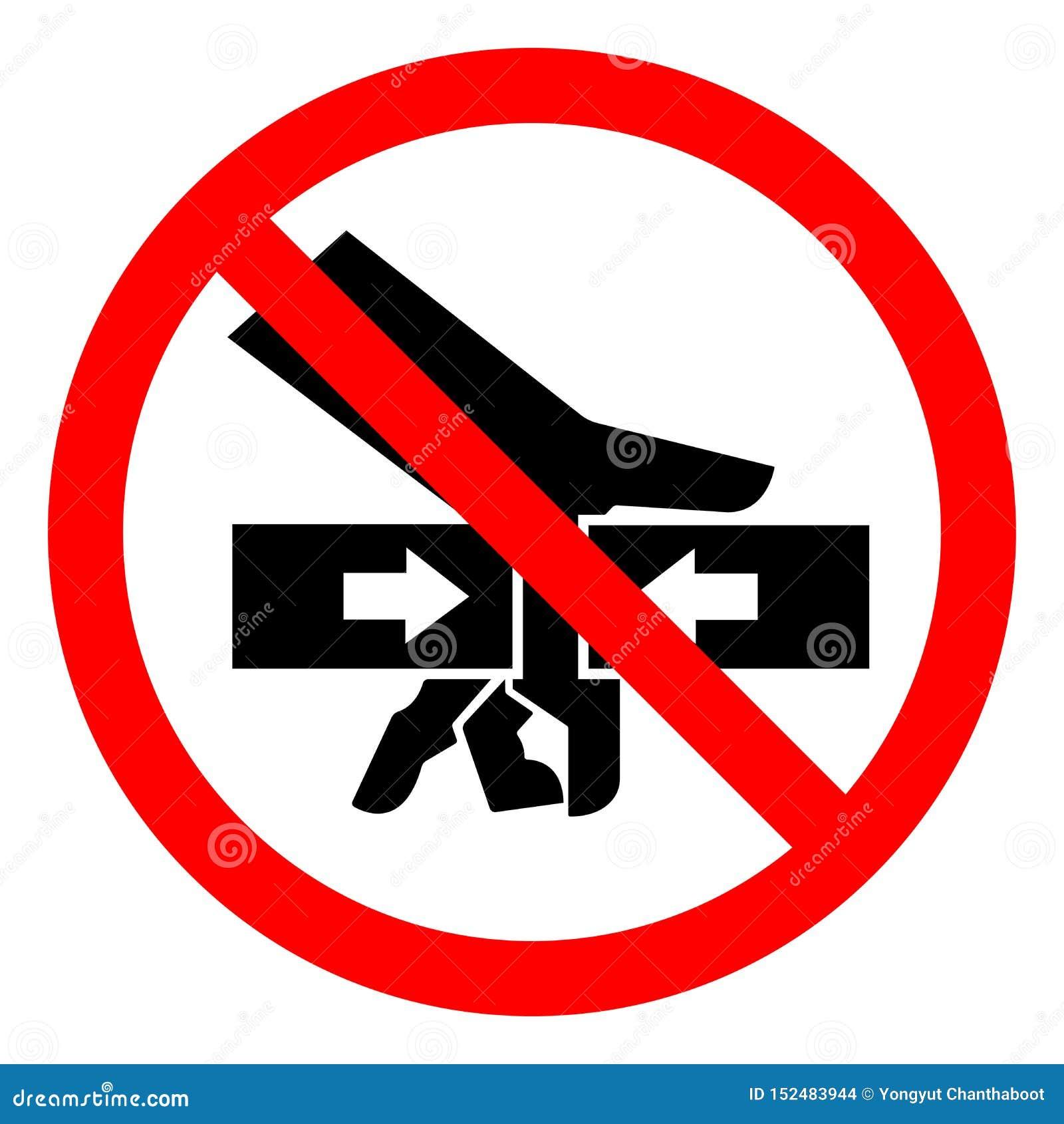 Força do esmagamento da mão do perigo de ferimento do sinal do símbolo de dois lados, ilustração do vetor, isolado na etiqueta br