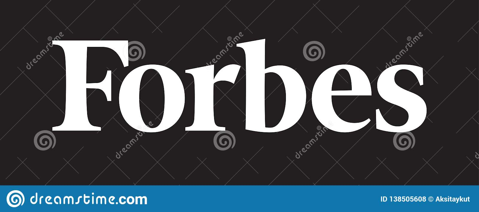 Forbes logo news editorial stock photo  Illustration of founded