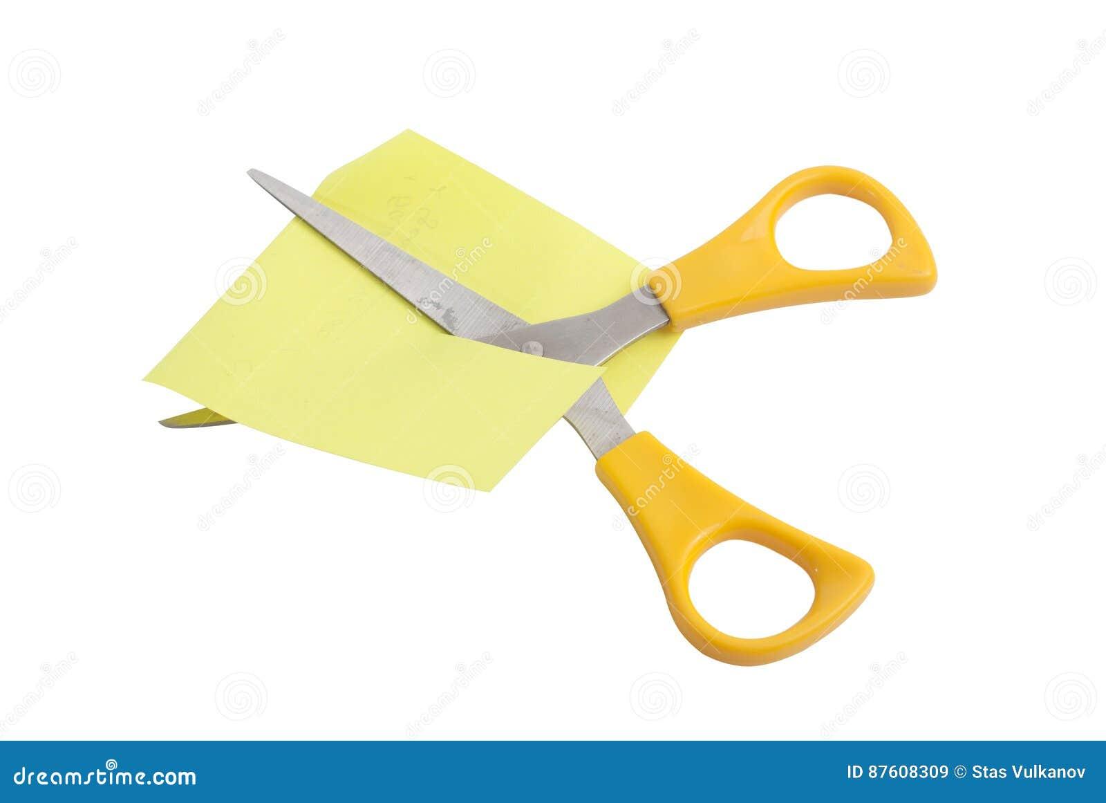 Forbici con le maniglie gialle,