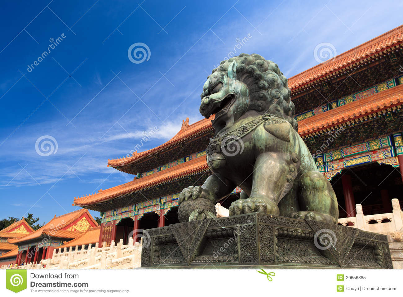 Download The forbidden city, China stock image. Image of palace - 20656885