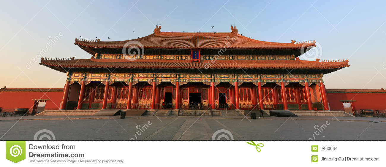 Forbidden City in sunset