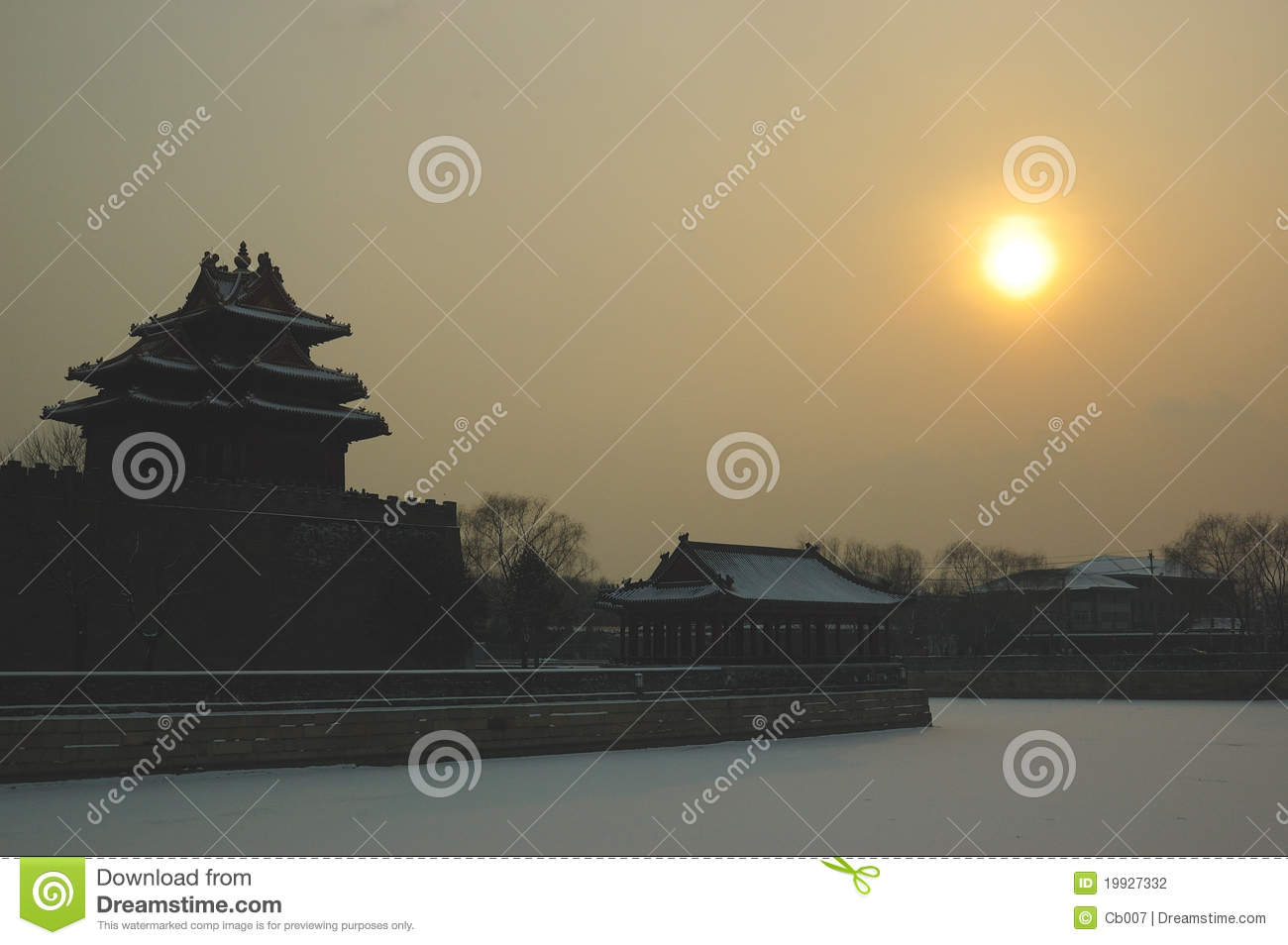 Download Forbidden city turret stock photo. Image of cityscape - 19927332