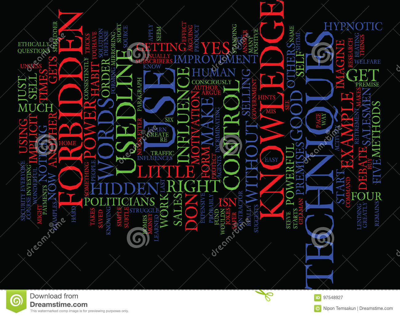 Forbidden Knowledge What Is It Word Cloud Concept Stock