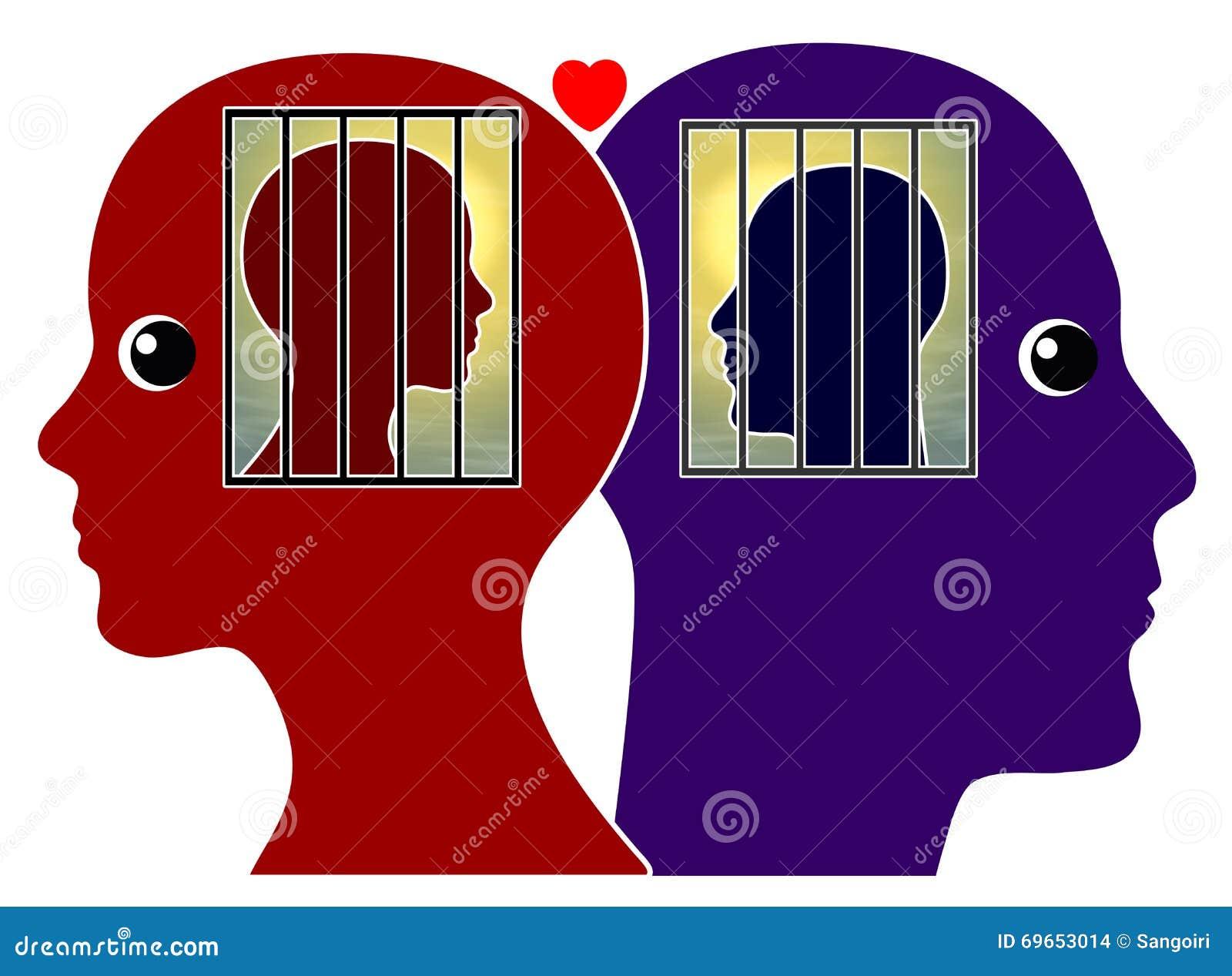 Forbidden Love Between Couple Stock Illustration Illustration Of
