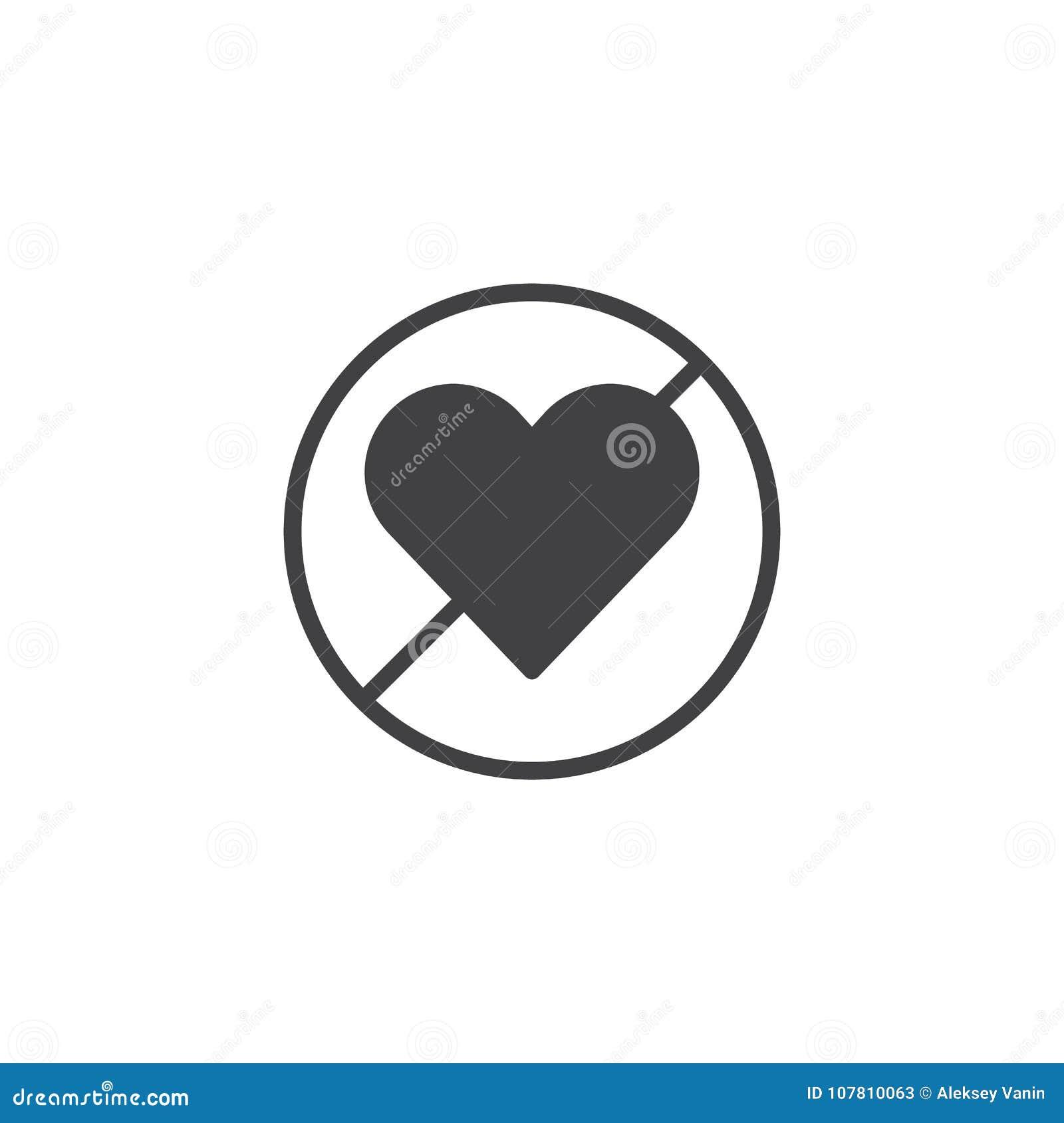 Forbidden Love Icon Vector Stock Vector Illustration Of Icon