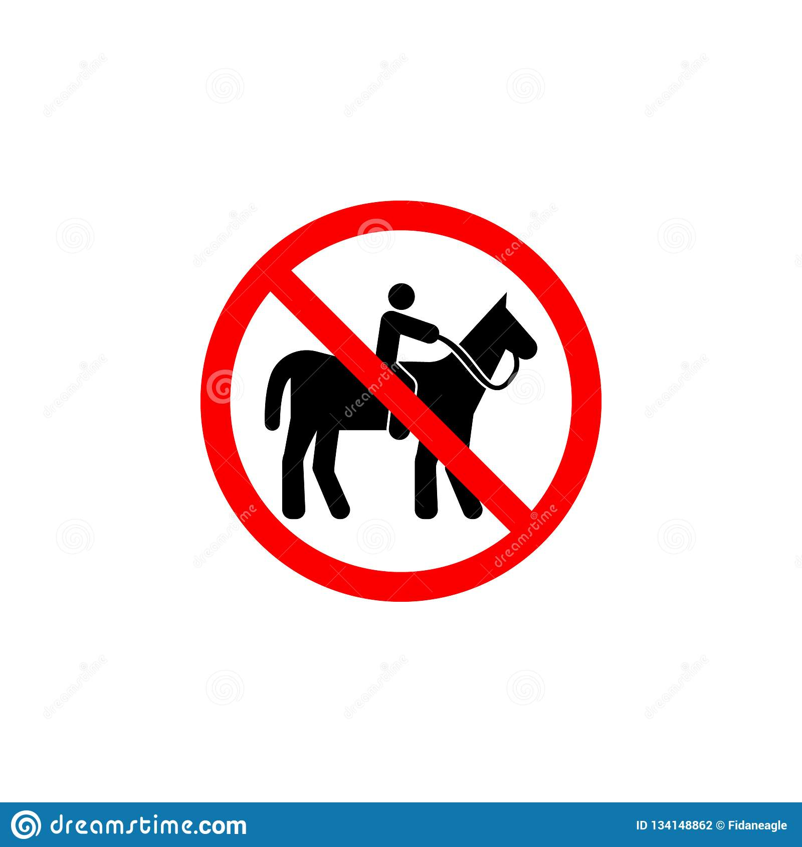 Forbidden Riding Horse Icon Can Be Used For Web, Logo