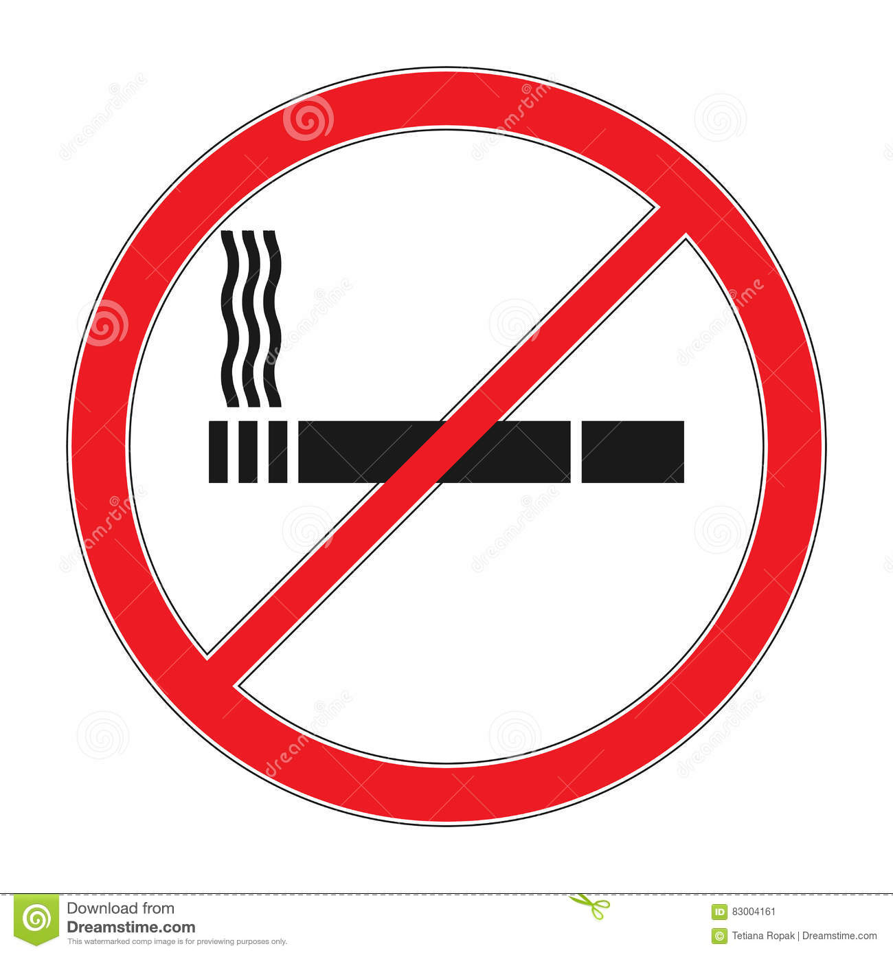 forbidding vector signs no smoking cigarette outline and linear