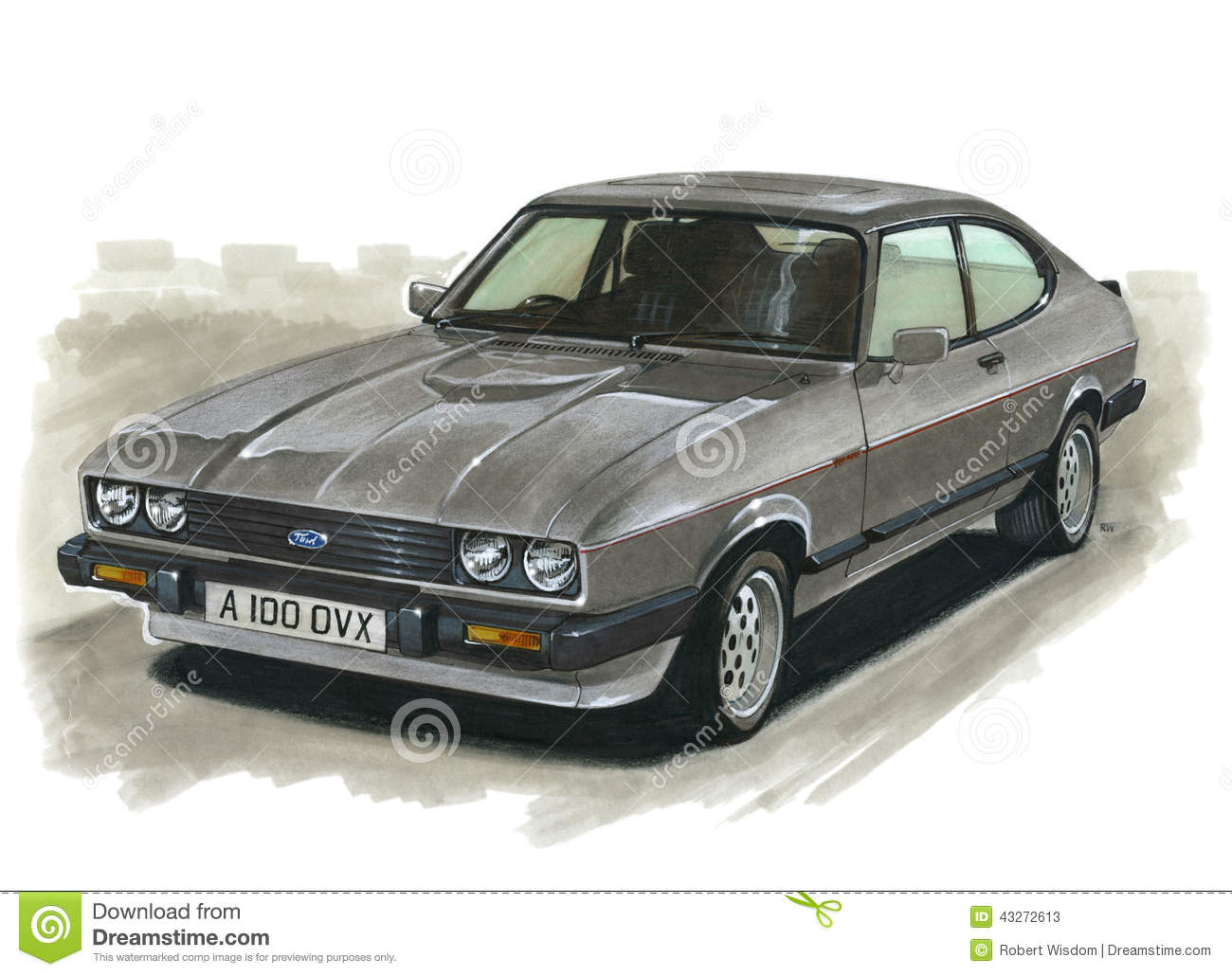 Cobra 11 Auto >> Ford Capri MkIII 2.8 Injection Editorial Stock Photo - Illustration of artist, automotive: 43272613