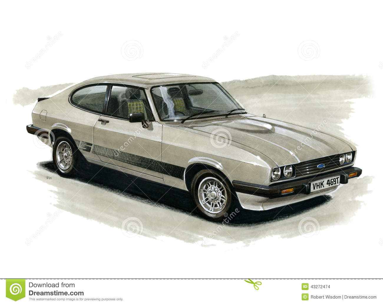 Ford Capri Mki 3000 Gxl Facelift Editorial Photo