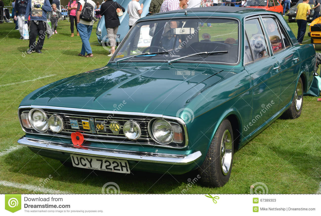 Classic Car Bumpers : Ford cortina mk classic vintage car editorial stock