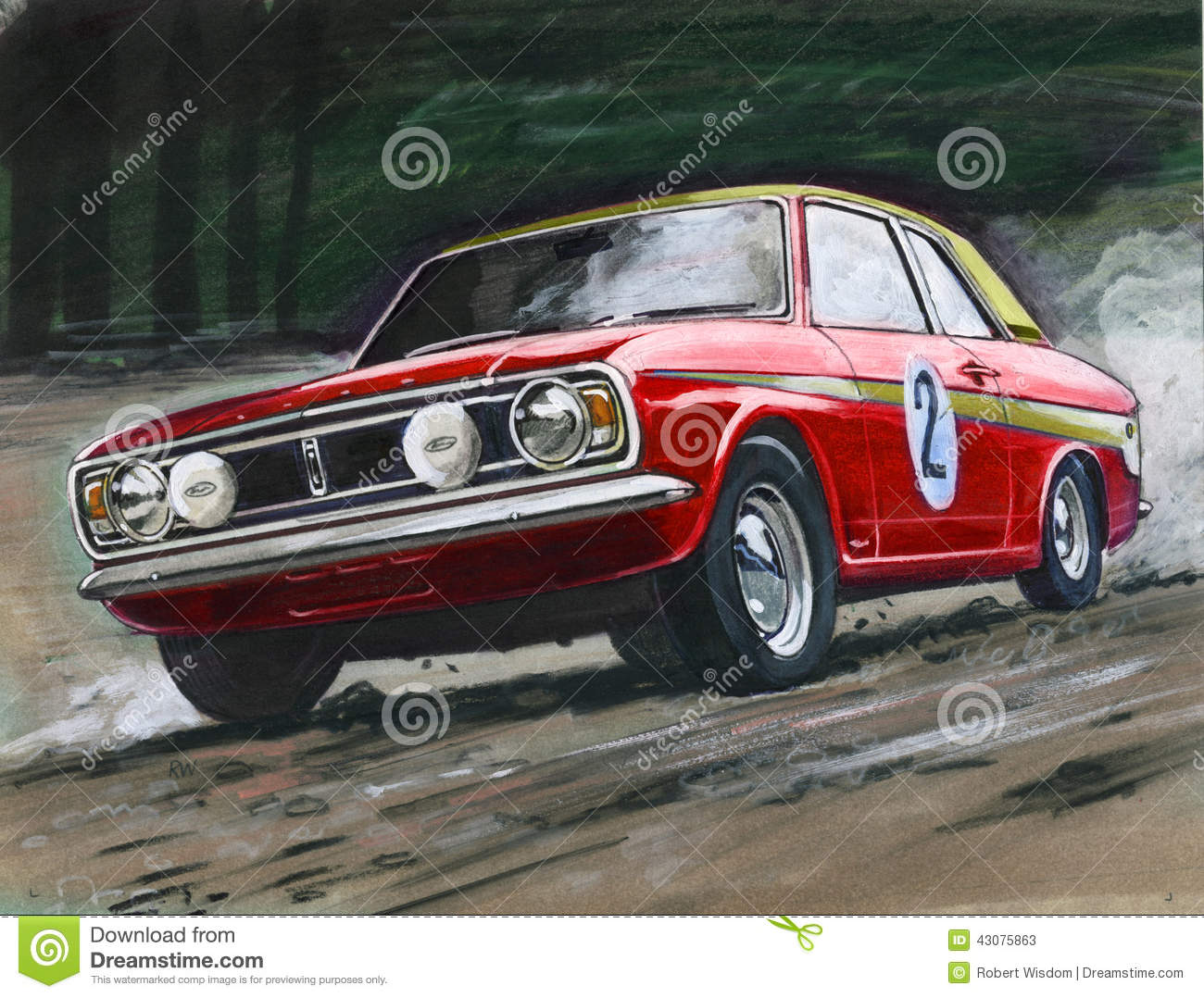 Ford Cortina MkII Rally Editorial Stock Photo - Image: 43075863