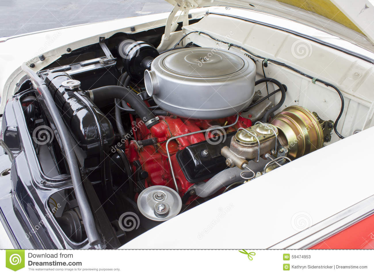 1955 Ford 8 Cylinder Engine Stock Image Image Of Shown