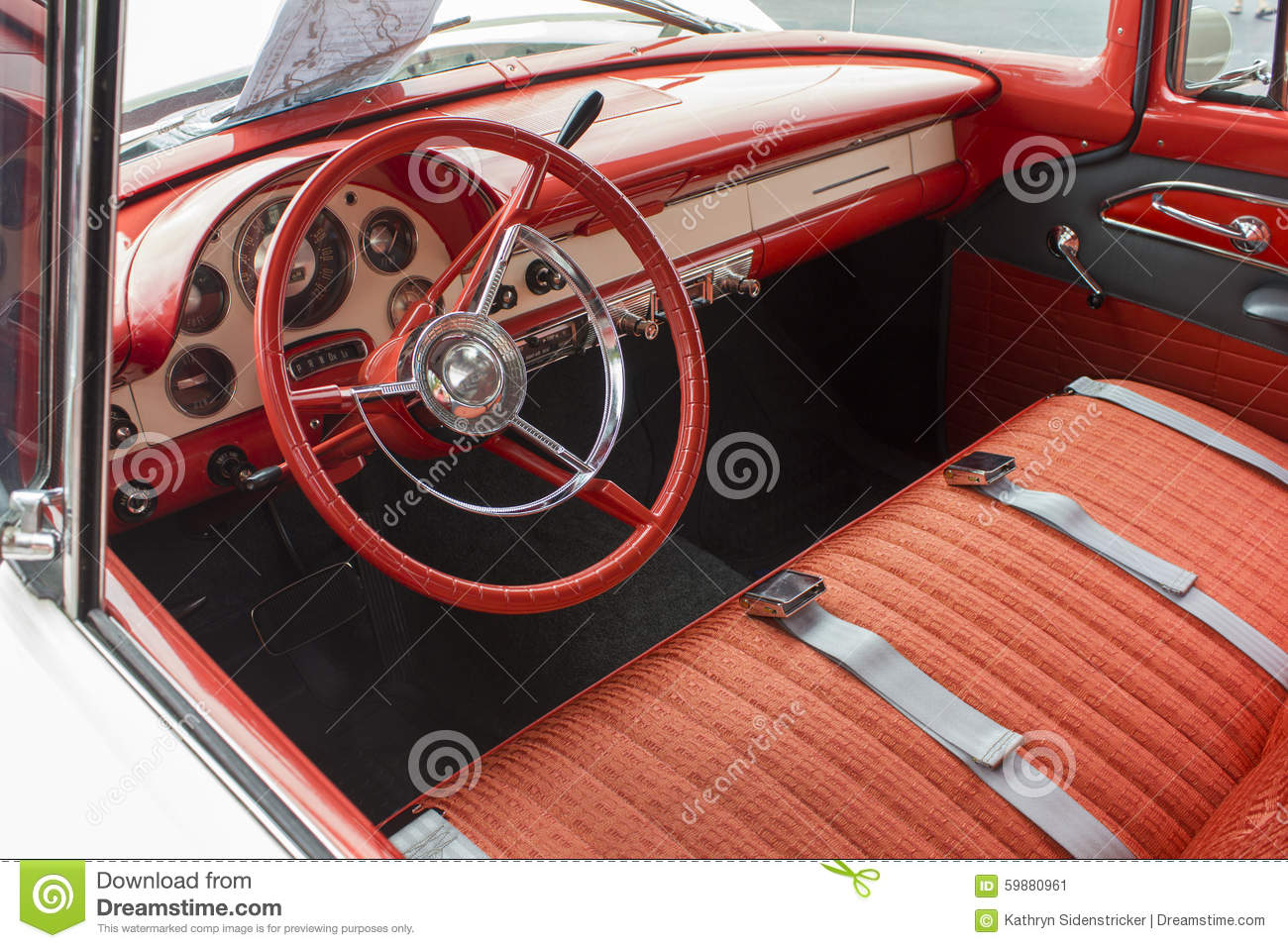 1955 Ford Dash And Interior Stock Photo Image 59880961