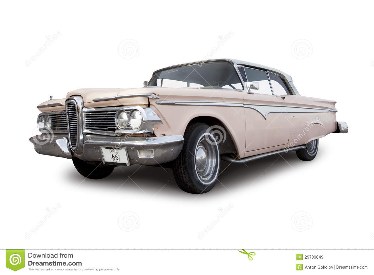 Ford Edsel White on Pulaski Skyway Map