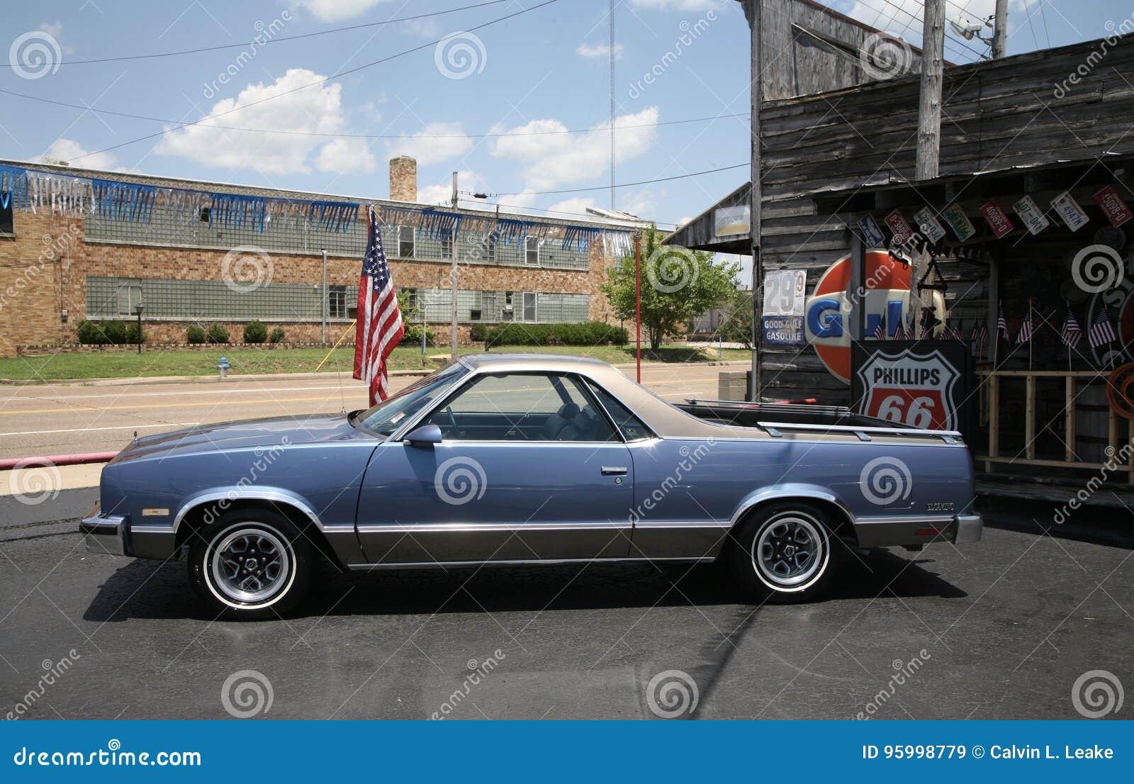 Ford el camino blue in color