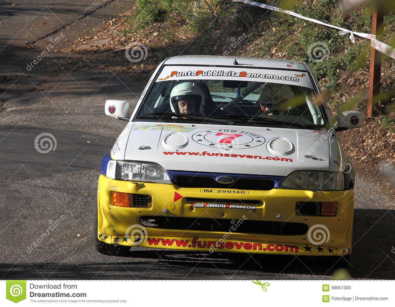 Ford Escort Cosworth Rally Car Editorial Stock Photo - Image of ...