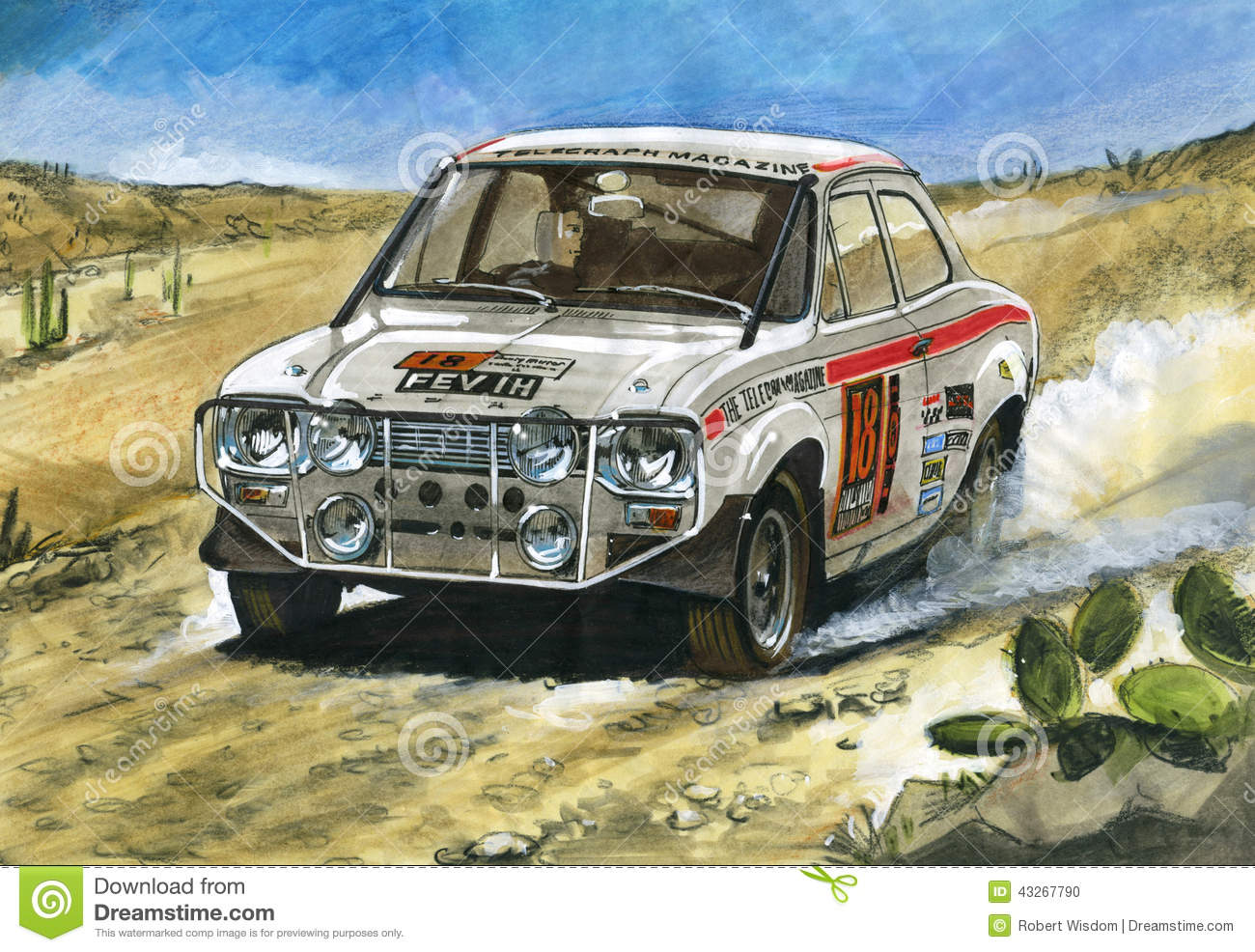 Ford Escort Mk1 1970 London To Mexico Rally Editorial Image