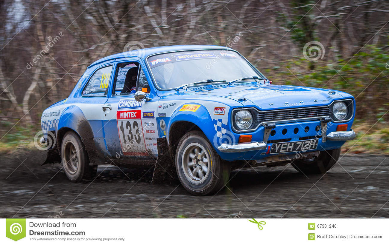 Ford Escort MKI rally car editorial image. Image of february - 67381240