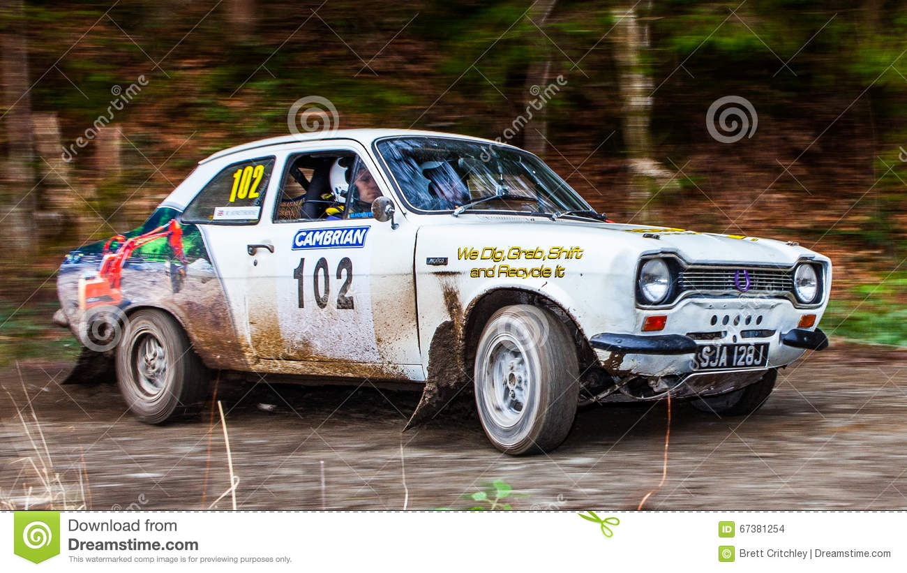 Ford Escort MKI rally car editorial stock image. Image of rally ...