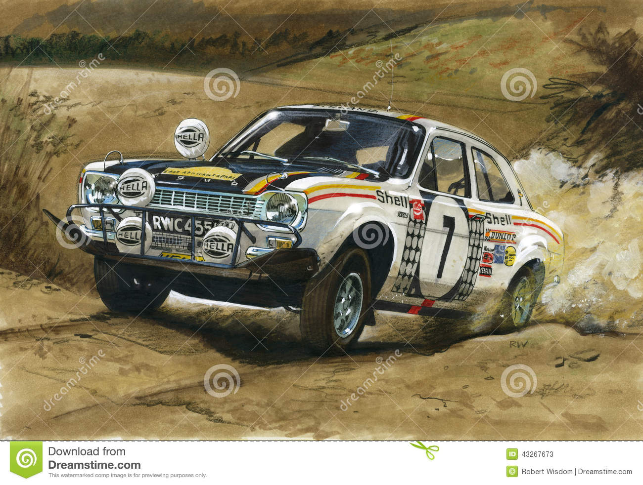 Ford Escort MkI RS1600 East African Rally 1972 Editorial Stock Photo ...