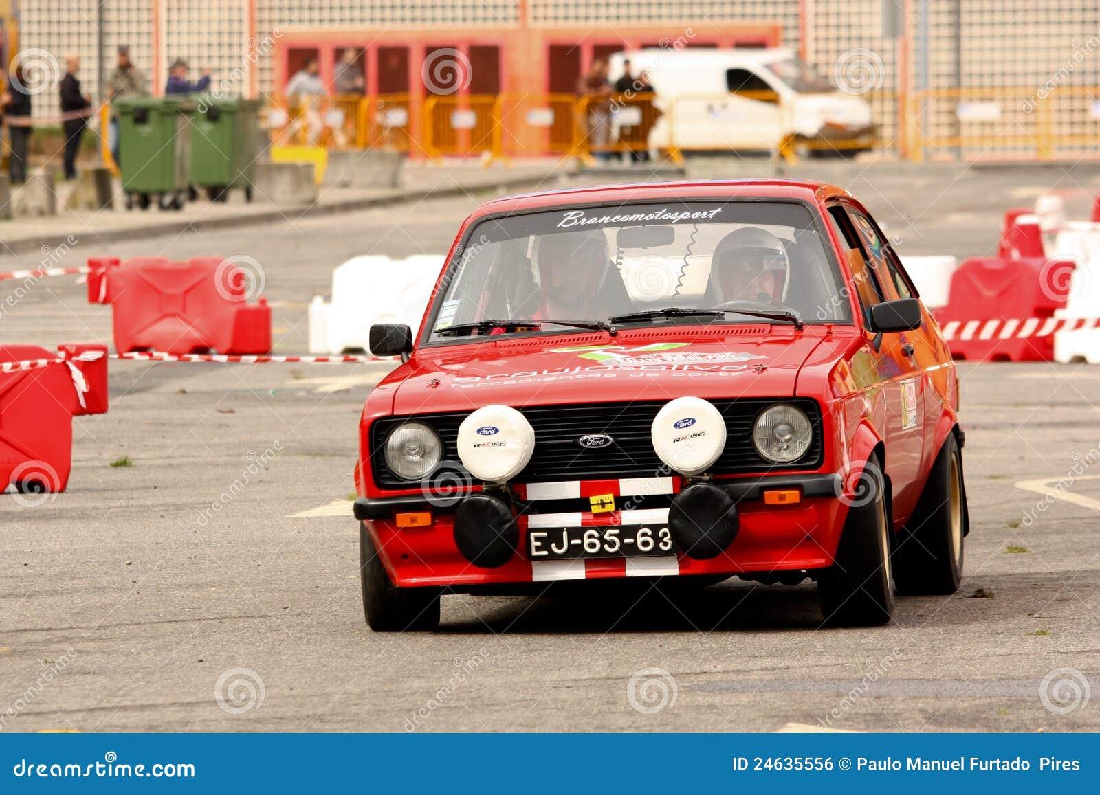 Ford Escort MkII durante la reunión Verde Pino 2012
