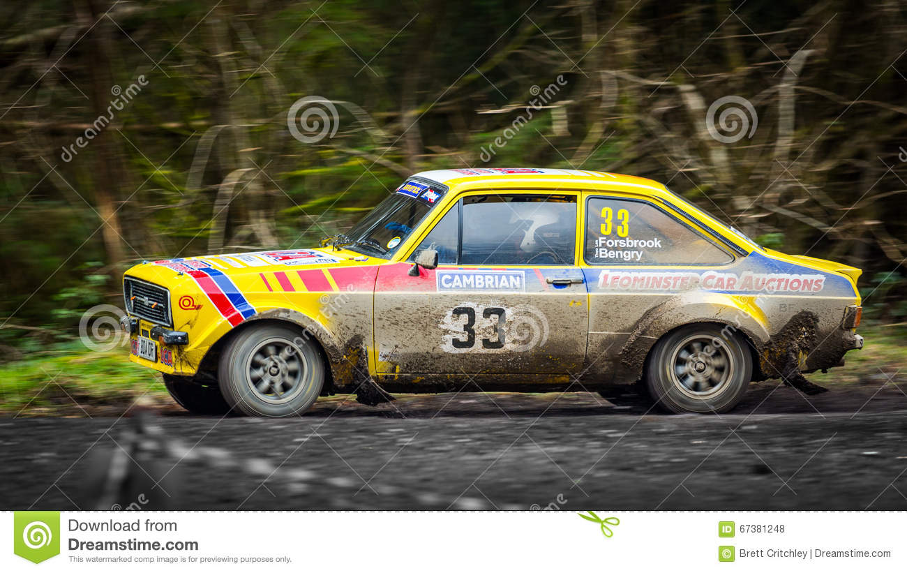 Ford Escort MKII rally car editorial stock photo. Image of racing ...