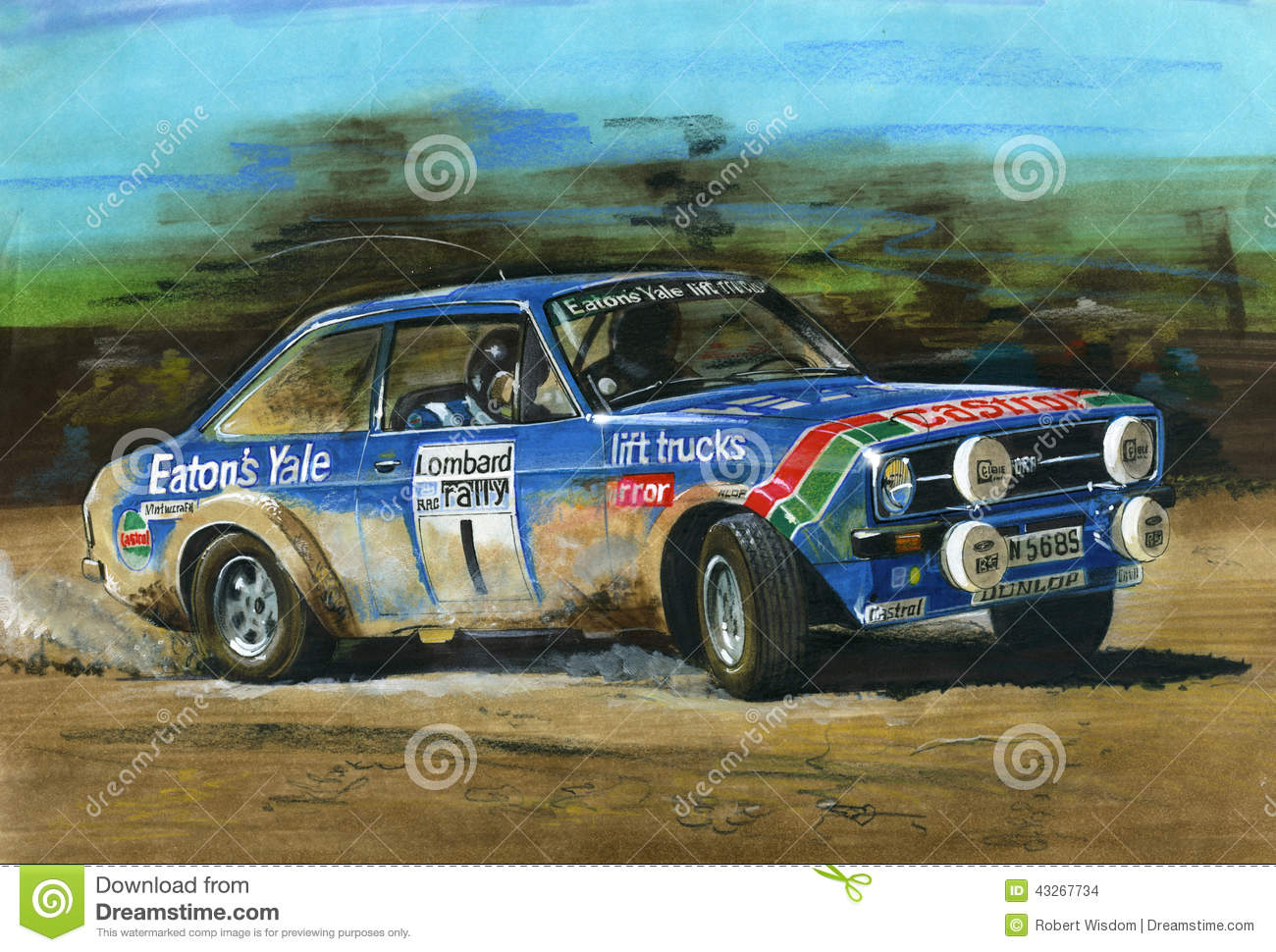 Ford Escort Mkii Rs1800 Lombard Rac Rally Editorial Stock