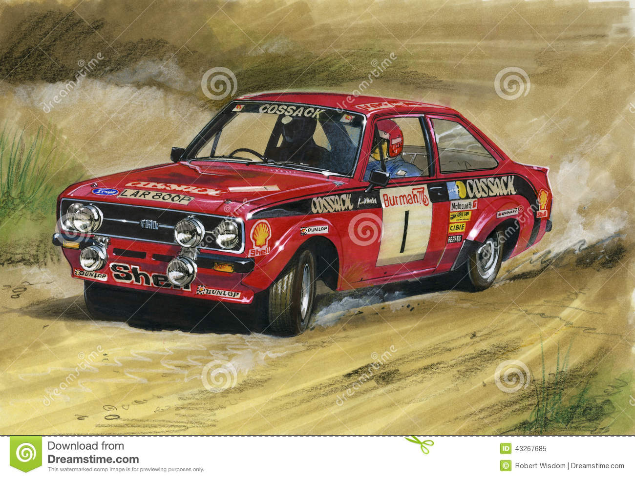 Ford Escort MkII RS1800 Rally Cossack Editorial Image - Illustration ...